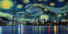 Starry Night Chicago CANVAS OR PRINT WALL ART