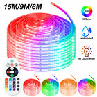 5050 LED Strip Rope Light Waterproof RGB Color Changing Lights Flexible W Remote