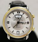 Maurice Lacroix 20759 Masterpiece Day Date Mans Watch Alarm Auto Steel 18k Gold