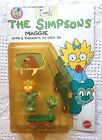 1990 Mattel THE SIMPSONS MAGGIE with Blue Scooter  5 Word Balloons MOC