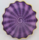 Beautiful Hand Blown Glass Art Wall Platter Bowl Plate Purple 8524 ONEIL