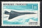 France 1969 1st flight Concorde Airplane Mi 1655 MNH