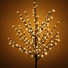 Christmas 7ft 220LED Cherry Blossom Twig Tree Light Branches Outdoor