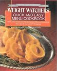 WEIGHT WATCHERS QUICK AND EASY MENU COOKBOOK 1988 HC DJ Color Pix FAT EXCELNT