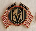 LAS VEGAS GOLDEN KNIGHTS CROSSED FLAGS LAPEL PIN