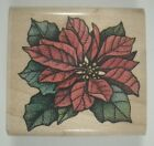Poinsettia Wood Mounted Rubber Stamp Rubber Stampede A508E Christmas Flower