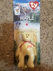 Beanie baby lot (halo/halo ii, maple the bear in package, cheery,and clubby iii)