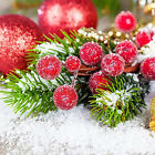 New Mini Decor Xmas Frosted Artificial Berry Vivid Holly Berry Home Garland WE6