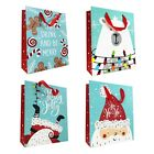 Allgala 12 PC Christmas Paper Gift Bags