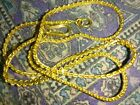Solid 22k heavy gold chain necklace 153 grams 18 long stamped