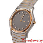 Ebel Classic Wave Diamond 18K Gold Stainless Steel  Watch 57.6 Grams NR