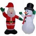 Homegear 8 ft Christmas Inflatable Value Pack Air Blown Santa Claus + Snowman