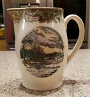Antique Adams ENGLAND Winter In The Country Christmas Pitcher