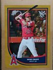 Hand #'d 1 1 GOLD MIKE TROUT 2018 TOPPS BIG LEAGUE BASEBALL WALL POSTER 10x14