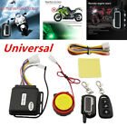 Motorcycle Anti-theft Alarm Security System Remote Control Engine Start Black