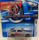 HOT WHEELS VARIATION GRAY FTE TOYOTA AE 86 COROLLA FLAWLESS CARD N NEW PROTECTO