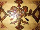 Stained Glass Handcrafted Wall Hanging Large Framed Original Ornate Decor New