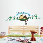 Wall Sticker Decal Sweet Dream Monkey Removable Kid Baby Nursery Room Home Decor