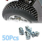 50PcWheel Tyres Snow Chains Studs For Shoes ATV Car Motorcycle Bike Tires Winter