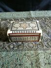 Carved Wooden Jewelry Trinket Box Mother of Pearl Inlay Star of David