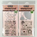 Hero Arts Stamp  Cut Lot Of 2 Unicorn  Dress Up Clear Stamp And Die Sets