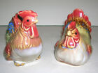 Chicken Rooster Hen Nesting Salt and Pepper Shaker Set Ceramic Beautiful Colors