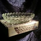 Indiana Glass Crystal Clear Whitehall  #1939 Oval Vegetable 7x10 Dish Cubist NIB