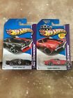 Lot x2 2013 Hot Wheels TOYS R US Exclusive 70 CHEVY CHEVELLE SS EDELBROOK REDblk