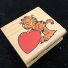 A Rubber Stamp Love Cat A297 C Garfield With giant Heart Cartoon Collecting