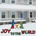 6 pc Yard Art Sign Outdoor Christmas Joy to the World Nativity Lawn Decoration