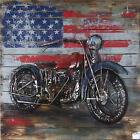Wall Arts: Motorcycle Metal Wall Art American 3 D Decor For Harley Iron Gift