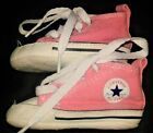 CONVERSE ALL STARS CRIB HIGH PINK TOP BABY GIRL SNEAKERS SHOES SOFT BOTTOM SZ 1