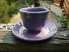 FIESTA RETIRED  LILAC OLD STORE STOCK CUP AND SAUCER PRISTINE CONDITION!! NR!
