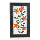 New Wooden Handmade Cosmos Flower Patel's and Haj Dry Leaf Painting 7x12