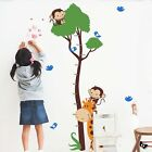 Monkey Giraffe Tree Boy Girl Height Measure Wall Stickers Kids Growth Chart US