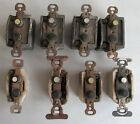 Lot of 8 Antique Single Pole Push Button Light Switches