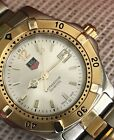 TAG Heuer Professional Ladies WK1320 Two-Tone Silver Dial Quartz Sapphire NICE!