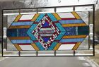 "•From Mild to Wild • HUGE• Beveled Stained Glass Window Panel • 40 3/8"" x 17 ¼"""