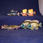 Lot of 7 Figural Fish Shakers Muskellunge Blue Gill Tropical Kasugaware