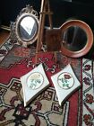 vintage italian florentine lot mirrors easel pictures gold white cream roses