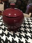 Fiesta® CINNABAR INDIV Sugar Bowl Discontinued Color New In Box 1st QUALITY