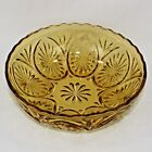 Anchor Hocking Medallion Honey Gold Glass Serving Bowl Amber Star Cameo 8 Inch