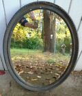 Vintage 1920's Graduated Hand Carved Wood Frame Beveled Mirror Wood Back 20 X 25