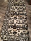 Antique Coverlet Section No date woven jacquard 82x34Appro. Pillows-framed