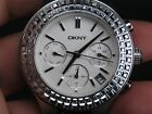 NEW OLD STOCK NOS DKNY 24 HOUR-HAND 5 ATM DAY DATE QUARTZ LADIES WATCH