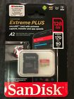 SanDisk Extreme PLUS A2 128GB microSDXC UHS I Memory Card with Adapter 4k UHD