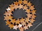 STRING OF 32 VINTAGE CHINESE STAR SHAPED PEACH AVENTURINE BEADS