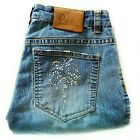 Lilly Pulitzer Vintage Sz 2 Crystal Embellished Palm Tree Cropped Jeans Capri