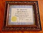 Vintage Ornate Carved Wooden Frame with Fire Certificate 1946-Percy Graham