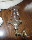 glass candle holder wall sconce pocket table lamp hobnail